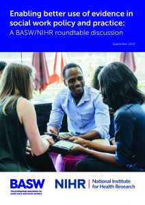 Report cover for BASW/NIHR report