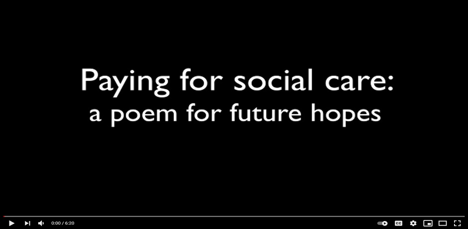 Poem: Paying for social care